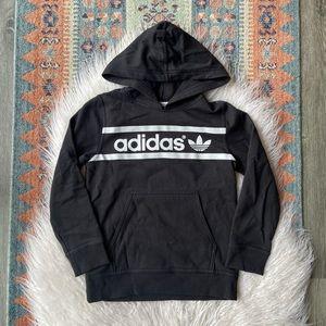 Adidas youth hooded sweatshirt black XS kid hoodie